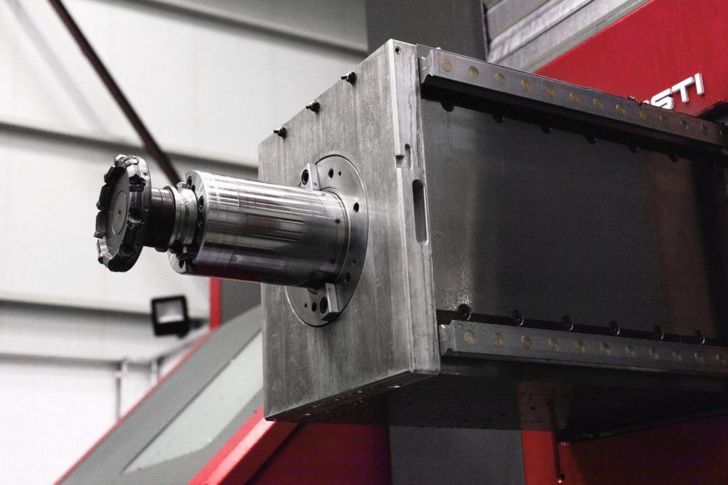 Boring spindle in boring milling machine