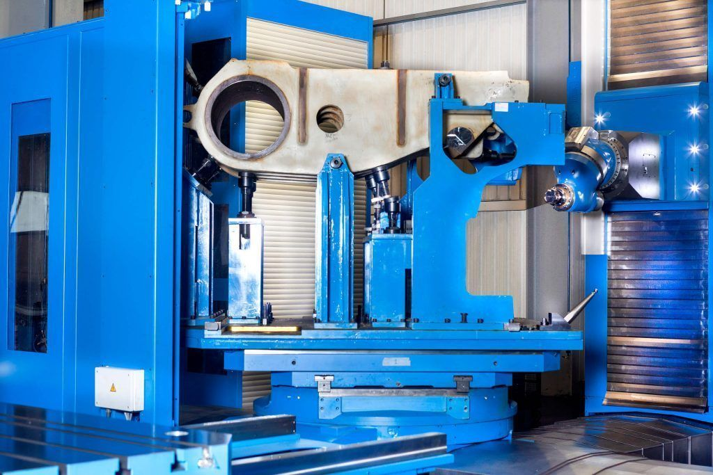 3060250 f 1 A comprehensive milling and boring center for manufacturing large rock and mineral crushers in India